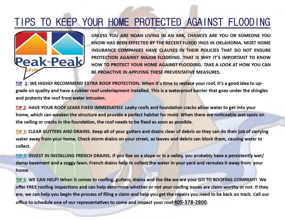 Tips To Protect Your Home Against Flooding Peak To Peak